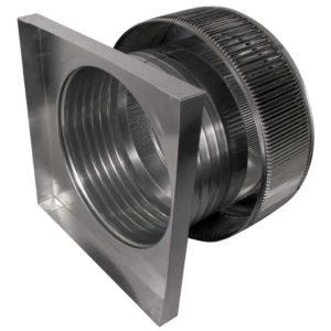 Gravity Ventilator - Aura Vent with Curb Mount Flange AV-16-C6-CMF-side