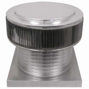 Gravity Ventilator - Aura Vent with Curb Mount Flange AV-16-C8-CMF-angle
