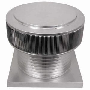 Gravity Ventilator - Aura Vent with Curb Mount Flange AV-18-C12-CMF-angle