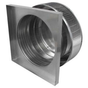 Gravity Ventilator - Aura Vent with Curb Mount Flange AV-18-C4-CMF-inside louvers