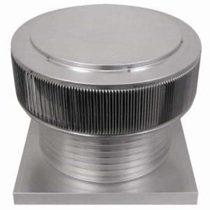 Gravity Ventilator - Aura Vent with Curb Mount Flange AV-18-C8-CMF-angle