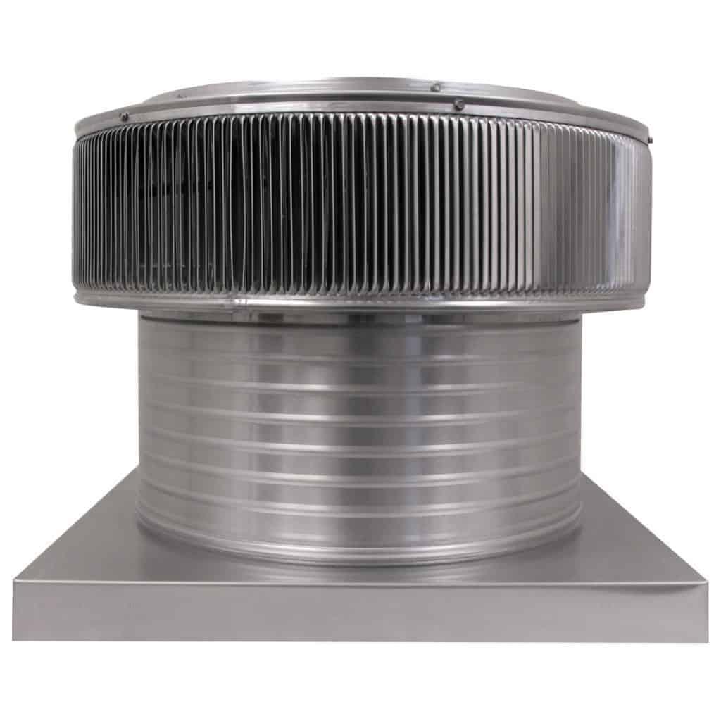 Gravity Ventilator - Aura Vent with Curb Mount Flange AV-18-C8-CMF-front