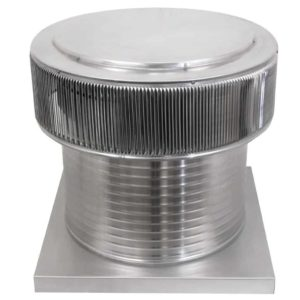 Gravity Ventilator - Aura Vent with Curb Mount Flange AV-20-C12-CMF-angle
