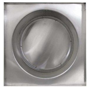 Gravity Ventilator - Aura Vent with Curb Mount Flange AV-20-C12-CMF-bottom