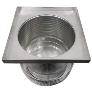 Gravity Ventilator - Aura Vent with Curb Mount Flange AV-20-C12-CMF-inside view