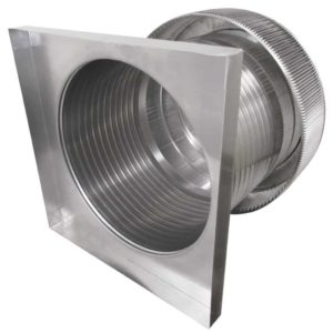 Gravity Ventilator - Aura Vent with Curb Mount Flange AV-20-C12-CMF-side view