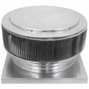 Gravity Ventilator - Aura Vent with Curb Mount Flange AV-20-C4-CMF-angle