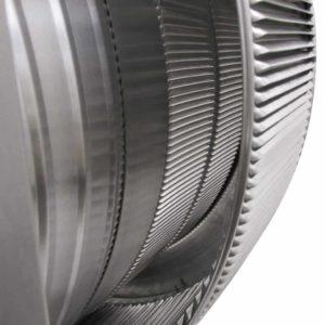 Gravity Ventilator - Aura Vent with Curb Mount Flange AV-20-C4-CMF-louvers