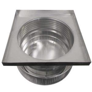 Gravity Ventilator - Aura Vent with Curb Mount Flange AV-20-C6-CMF-inner louvers