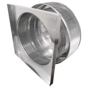 Gravity Ventilator - Aura Vent with Curb Mount Flange AV-24-C6-CMF-inner louvers