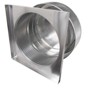 Gravity Ventilator - Aura Vent with Curb Mount Flange AV-24-C8-CMF-inside louvers
