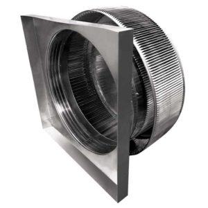 Gravity Ventilator - Aura Vent with Curb Mount Flange AV-30-C4-CMF-inside louvers