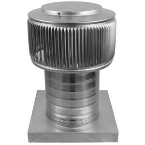 Gravity Ventilator - Aura Vent with Curb Mount Flange AV-6-C6-CMF-angle