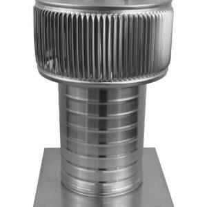 Gravity Ventilator - Aura Vent with Curb Mount Flange AV-6-C8-CMF-angle
