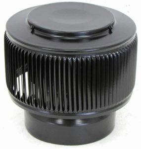 PVC Aura Vent Cap AV-6-PVC-black-angle