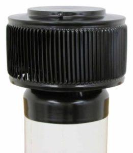 PVC Aura Vent Cap AV-6-PVC-black-installed-angle-e1524249852163