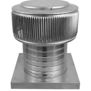 Gravity Ventilator - Aura Vent with Curb Mount Flange AV-8-C6-CMF-angle