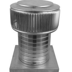 Gravity Ventilator - Aura Vent with Curb Mount Flange AV-8-C8-CMF-angle