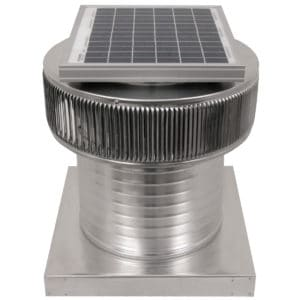 Aura Solar Exhaust Fan with Curb Mount Flange