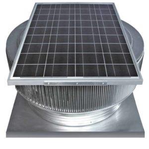 Solar Attic Fan - Aura Solar Fan with Curb Mount Flange ASF-30-C04-CMF-specs
