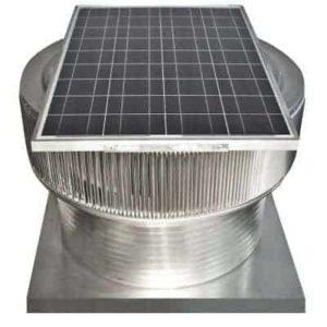 Solar Attic Fan - Aura Solar Fan with Curb Mount Flange ASF-30-C12-CMF-specs