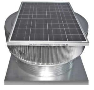 Aura Solar Attic Fan with Curb Mount Flange