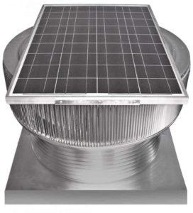 Solar Attic Fan - Aura Solar Fan with Curb Mount Flange ASF-30-C8-CMF-front
