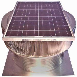 Solar Attic Fan - Aura Solar Fan ASF-30-C8-angle