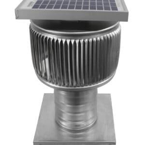 Solar Attic Fan - Aura Solar Fan with Curb Mount Flange ASF-4-C4-CMF-angle