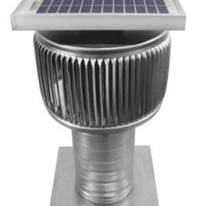 Solar Attic Fan - Aura Solar Fan with Curb Mount Flange ASF-4-C6-CMF-angle