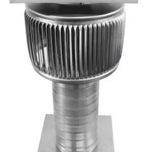 Solar Attic Fan - Aura Solar Fan with Curb Mount Flange ASF-4-C8-CMF-angle