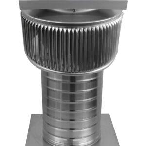 Solar Attic Fan - Aura Solar Fan with Curb Mount Flange ASF-6-C8-CMF-angle