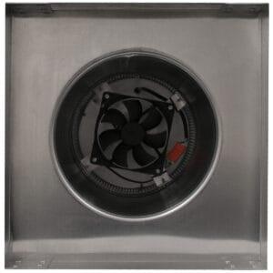 Solar Attic Fan - Aura Solar Fan with Curb Mount Flange ASF-8-C12-CMF-bottom
