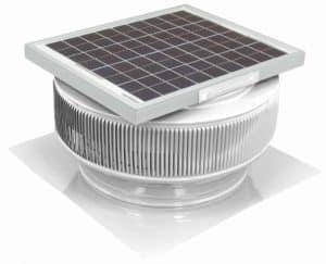 Solar Attic Fan - Aura Solar Fan HD-ASF-14-C2-WT