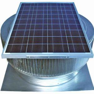 Solar Attic Fan - Aura Solar Fan ASF-30-C4-angle