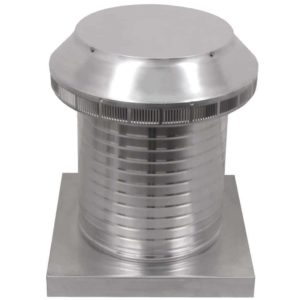Roof Louver for Air Intake - Pop Vent with Curb Mount Flange PV-12-C12-CMF-2