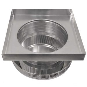 Roof Louver for Air Intake - Pop Vent with Curb Mount Flange PV-12-C4-CMF-bottom view