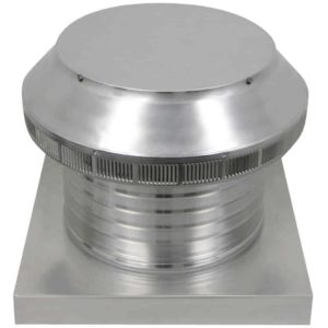 Roof Louver for Air Intake - Pop Vent with Curb Mount Flange PV-12-C6-CMF-angle