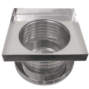Roof Louver for Air Intake - Pop Vent with Curb Mount Flange PV-12-C6-CMF-bottom view
