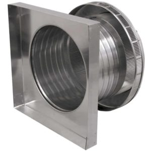 Roof Louver for Air Intake - Pop Vent with Curb Mount Flange PV-12-C6-CMF-side view