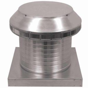 Roof Louver for Air Intake - Pop Vent with Curb Mount Flange PV-12-C8-CMF-angle