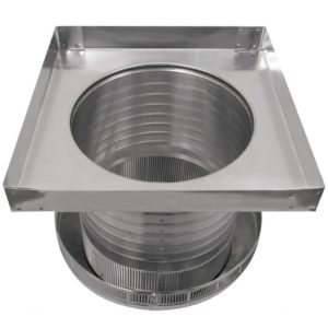 Roof Louver for Air Intake - Pop Vent with Curb Mount Flange PV-12-C8-CMF-bottom view