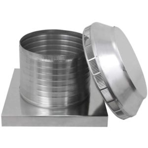 Roof Louver for Air Intake - Pop Vent with Curb Mount Flange PV-12-C8-CMF-removed