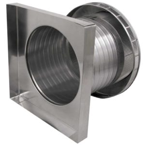 Roof Louver for Air Intake - Pop Vent with Curb Mount Flange PV-12-C8-CMF-side