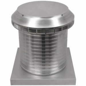Roof Louver for Air Intake - Pop Vent with Curb Mount Flange PV-14-C12-CMF-2