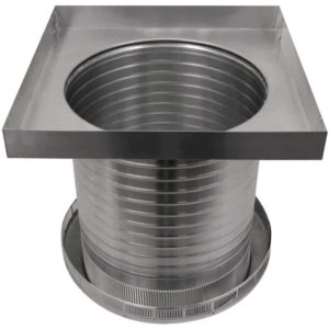 Roof Louver for Air Intake - Pop Vent with Curb Mount Flange PV-14-C12-CMF-6