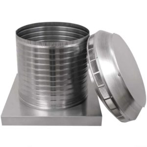 Roof Louver for Air Intake - Pop Vent with Curb Mount Flange PV-14-C12-CMF-7