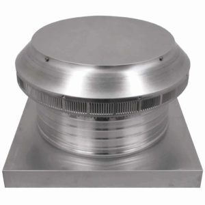 Roof Louver for Air Intake - Pop Vent with Curb Mount Flange PV-14-C4-CMF-angle
