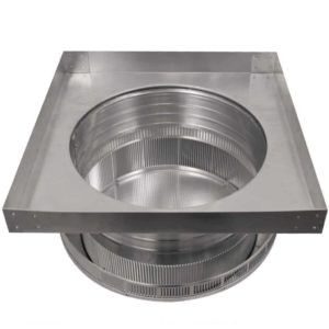 Roof Louver for Air Intake - Pop Vent with Curb Mount Flange PV-14-C4-CMF-bottom view