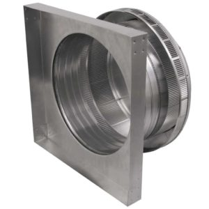 Roof Louver for Air Intake - Pop Vent with Curb Mount Flange PV-14-C4-CMF-inside louvers